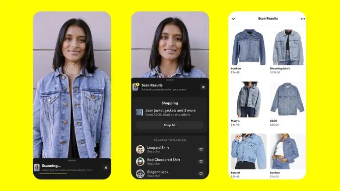 Snapchat clothing scan
