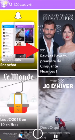 Example of a Snapchat Story Ad