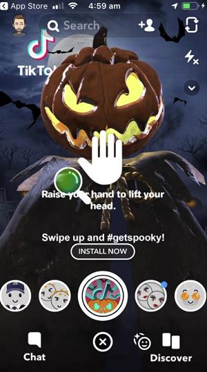 Snapchat TikTok lens