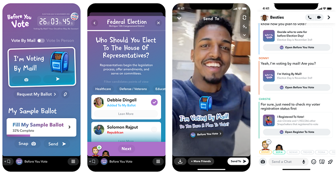 Snapchat voting tools