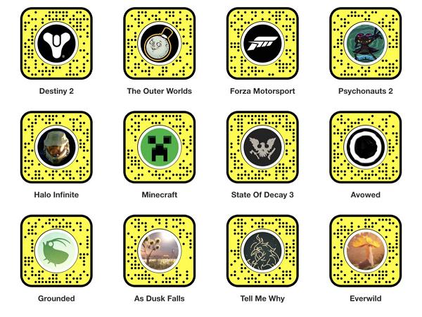 Snapchat Xbox Lenses