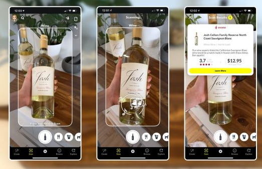 Snapchat wine scan