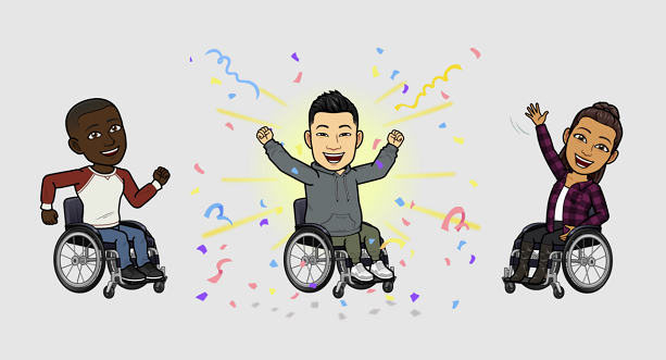 Bitmoji wheelchair animation