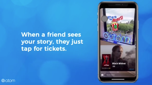 Atom Tickets Snapchat