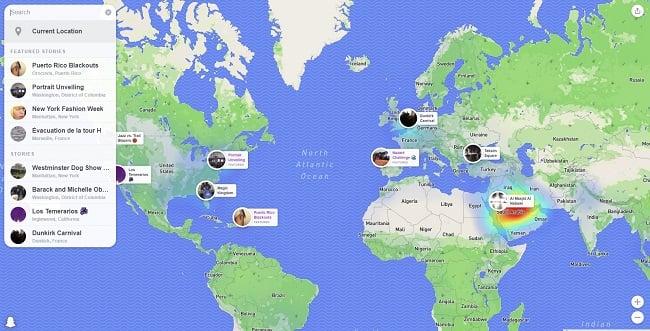 Snapchat hace que el mapa de ajuste esté disponible en la Web, con opciones para incrustar historias Contenido | Redes sociales hoy