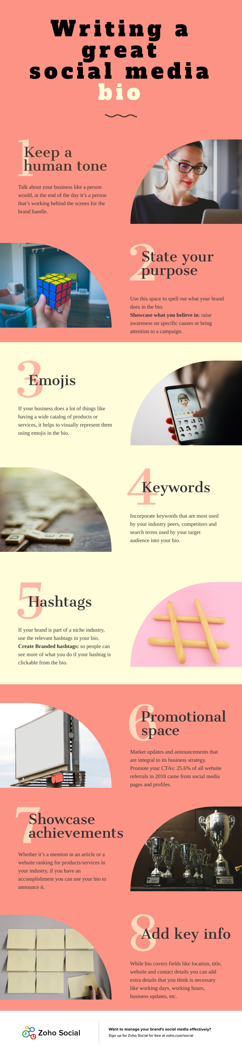 Infographic lists profile tips