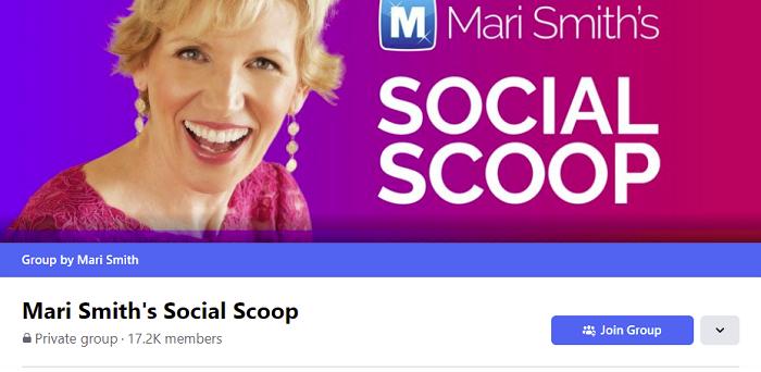 Groupe Facebook Scoop social de Mari Smith
