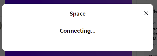 Twitter Spaces on web