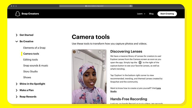 Snapchat Creator Hub