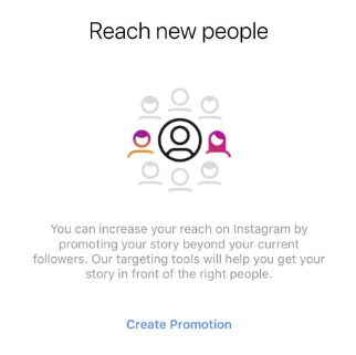 Instagram promote mode