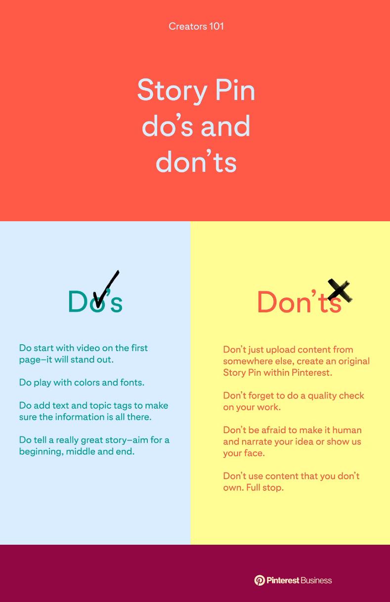 Pinterest Story Pin tips