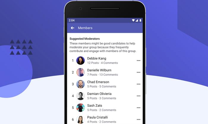 Facebook suggested moderators