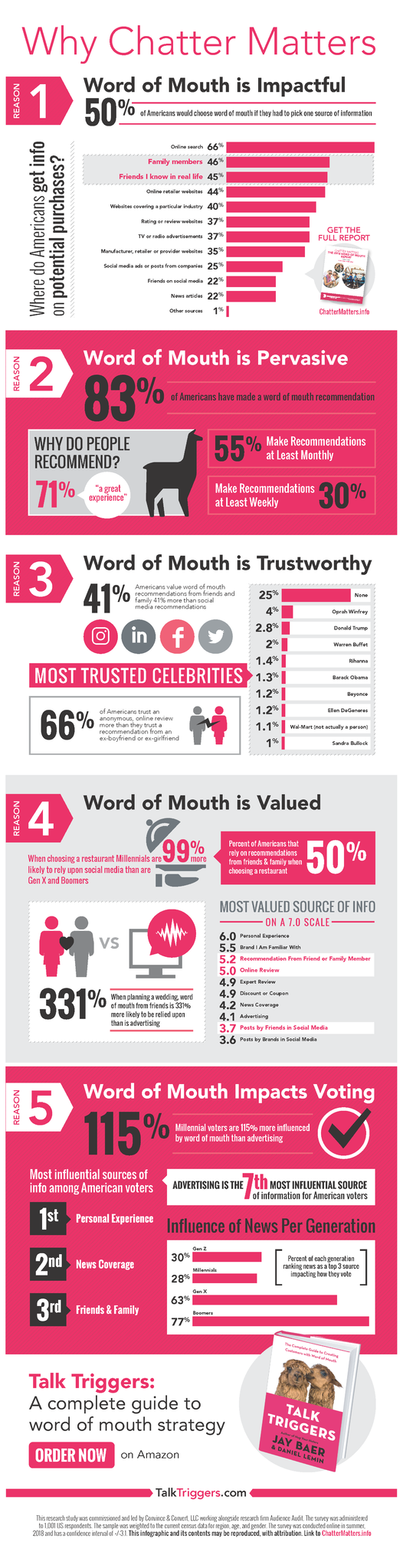 Infographic looks at the influence of word of mouth