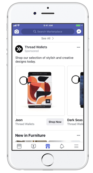 Thread Wallets' Marketplace ad