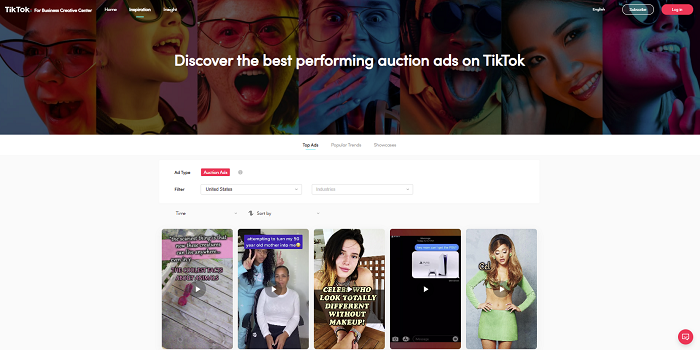 TikTok Top Ads platform