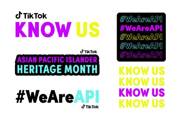 TikTok Asian and Pacific Islander Heritage stickers