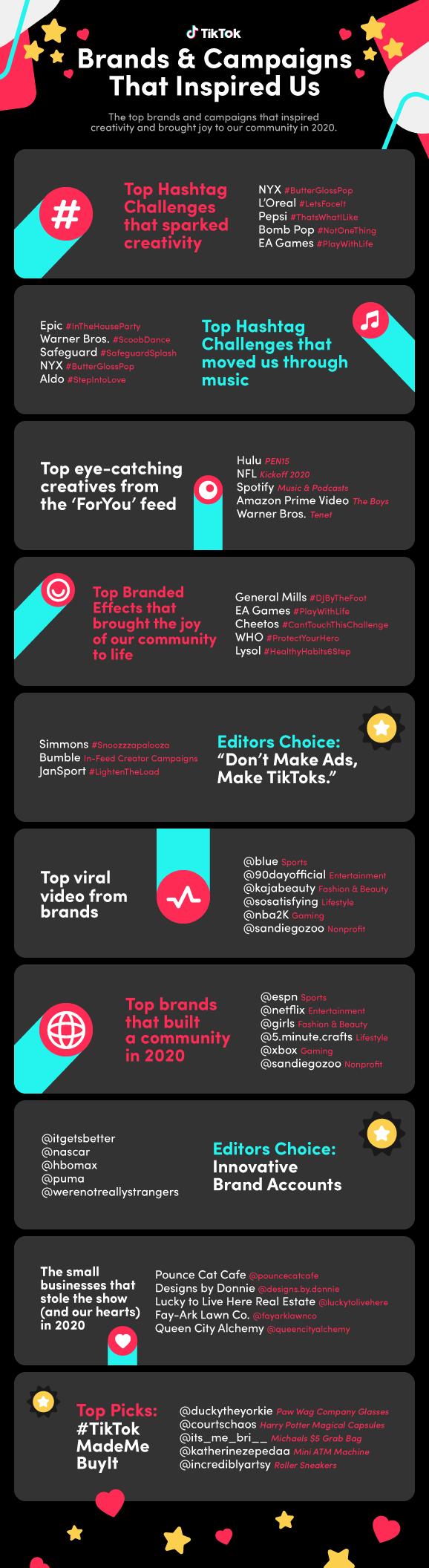 TikTok brand campaigns 2020