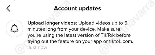 TikTok 5 minute video expansion