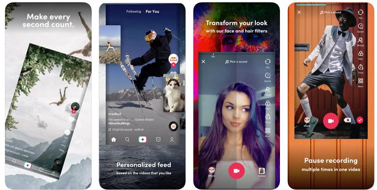 TikTok ekran görüntüleri