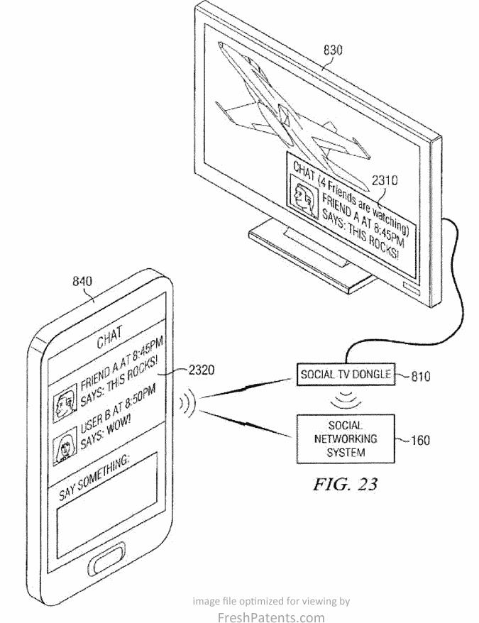 An image from Facebook's TV connection patent