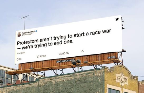 Twitter Juneteenth billboard