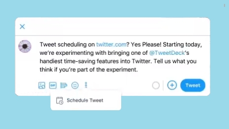Native tweet scheduling