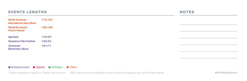 Twitter 2019 events calendar