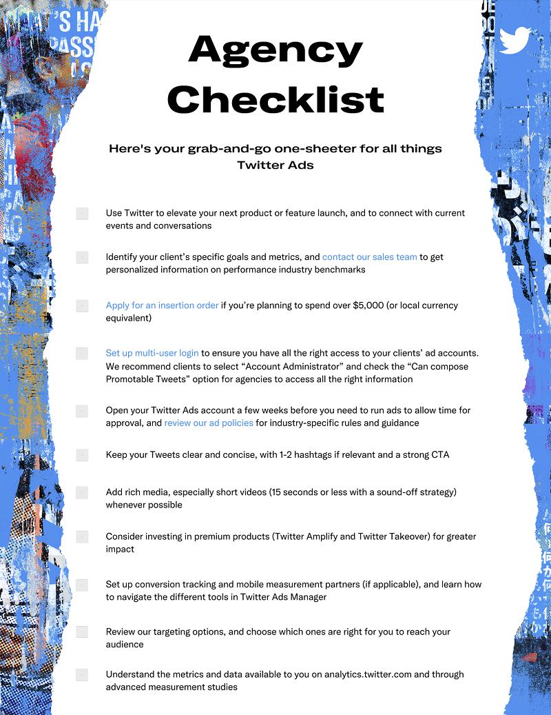 Twitter ads checklist