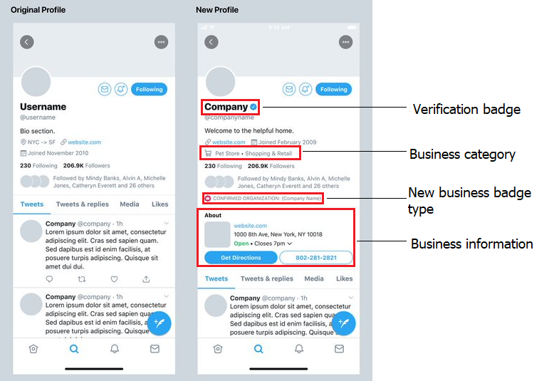 A Preview on Twitter's Business Profile