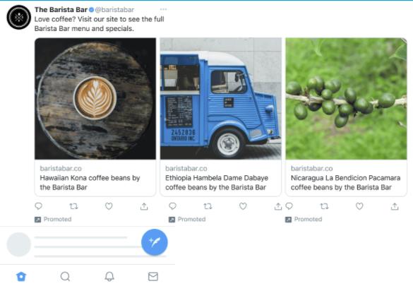 Twitter Carousel Ad update