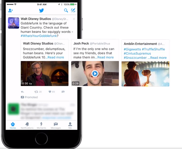 Twitter carousel example
