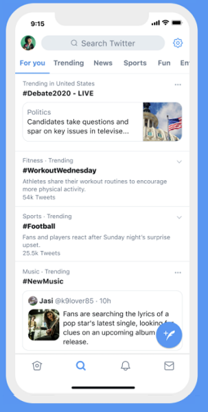 Twitter тенденции
