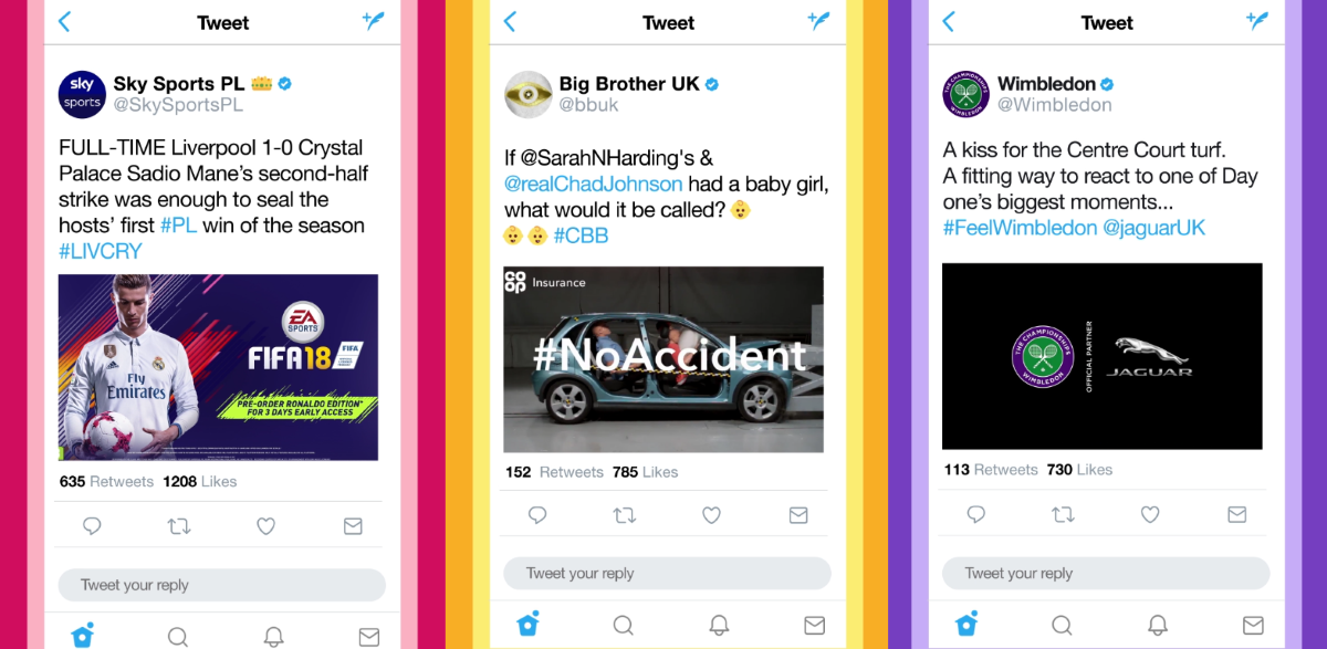 Twitter in-stream video ad examples