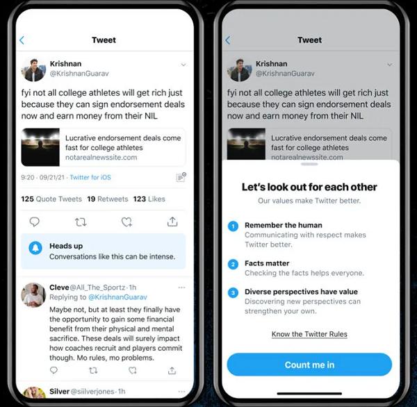 Twitter heads up