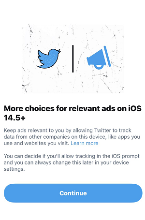 Twitter iOS 14.5 explanation