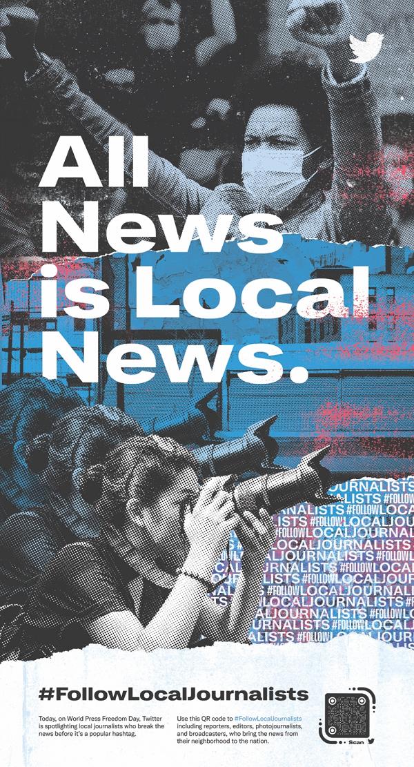 Twitter local journalism ads