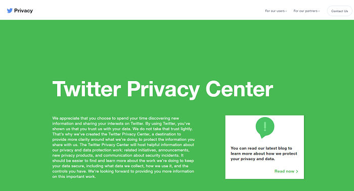 Twitter Privacy Center