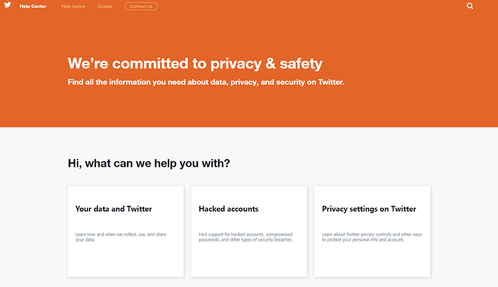 Twitter privacy help