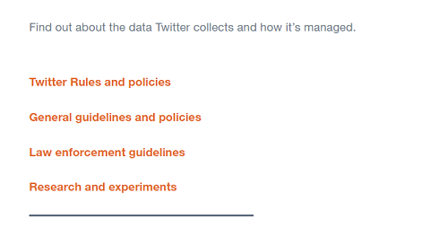 Twitter privacy resources