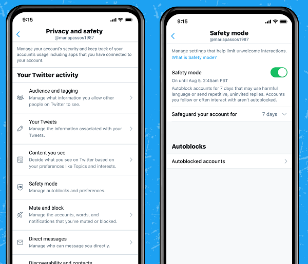 Twitter Safety Mode