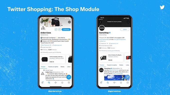 Twitter Shop Module