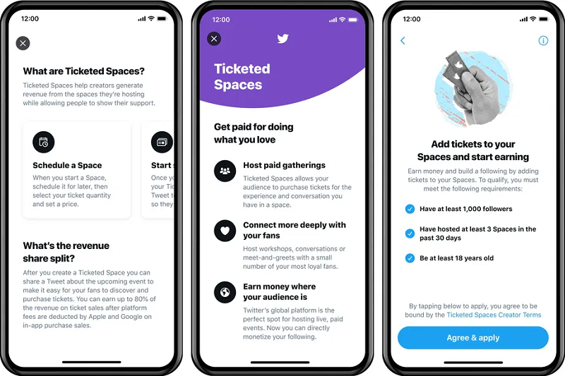 Twitter Spaces ticketed events