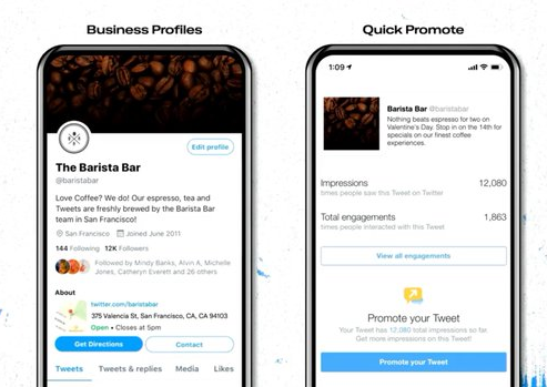 Twitter business profile