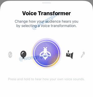 Twitter audio changer