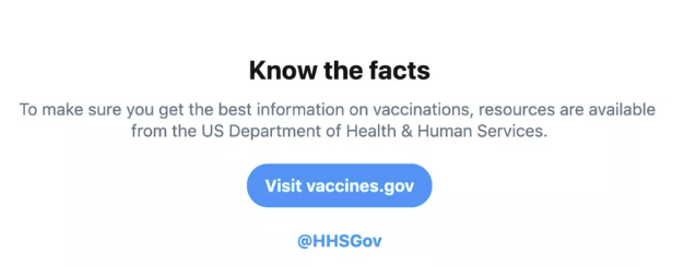 Twitter anti-vax warning
