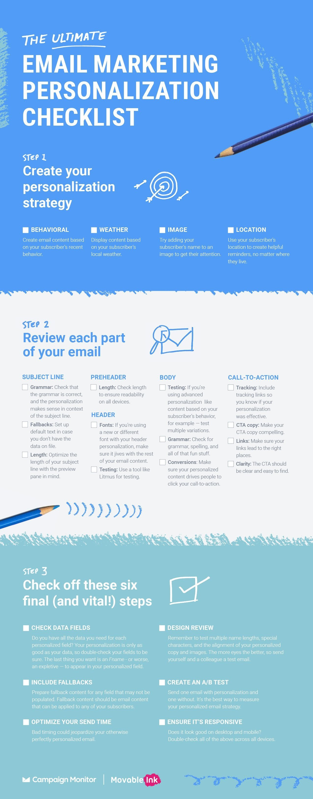 The Ultimate Email Marketing Personalization Checklist [nfographic]