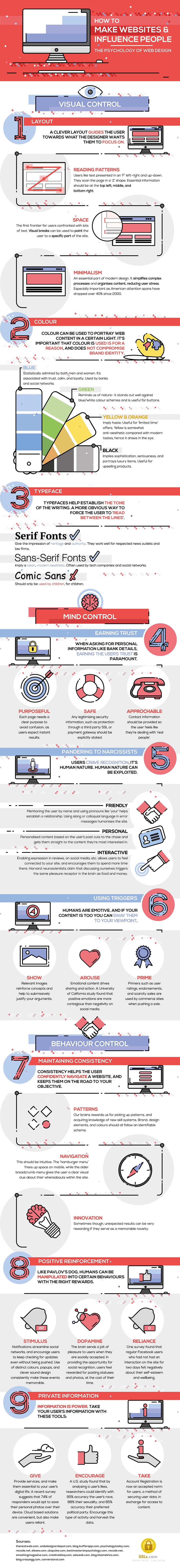 How to Make a Website that Influences People: 9 Web Design Psychology Tips [Infographic]