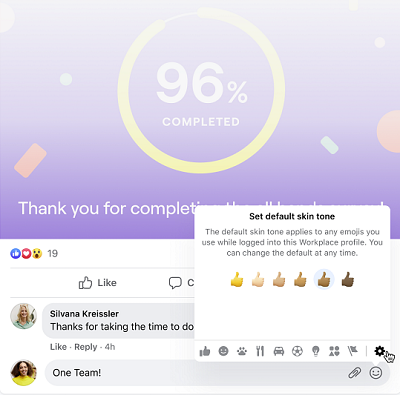 Facebook Workplace update