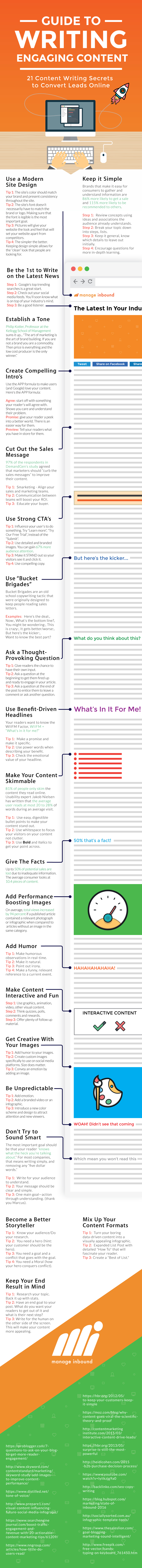 Infographic outlines tips to improve content writing