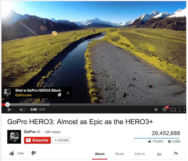 Nút CTA của YouTube
